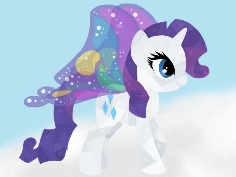 Butterfly crystal Rarity by Mouse200