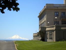 Maryhill Museum, Mt. Hood in background by bwall49