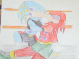 now that is a kiss of two great warriors by thepredator777