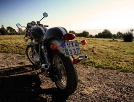 Thruxton from behind by PerryPride
