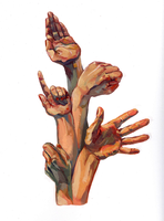 Hand Gouache by TeaAnemone