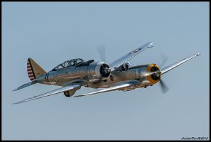 Seversky AT-12 Guardsman-Curtiss P-36 Hawk by AirshowDave
