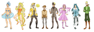 Eeveelution Gijinkas by Pace-Eterna