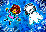 Commission: Frisk and Napstablook v2 by Agui-chan