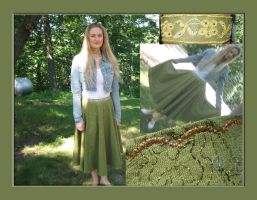 Green Sequined Skirt by ThreeRingCinema