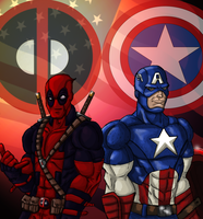 Cap and Deadpool by Wessel