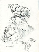 Strike Man sketches by GarthTheDestroyer