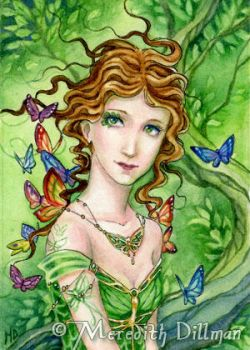 ACEO - Forest of Butterflies by MeredithDillman