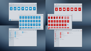 Blue and Red system icons. by tchiro