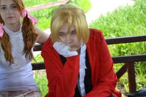 Tired... (Edward Elric) by EvanAkita