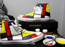Converse Piet Mondrian by kevinshito3d