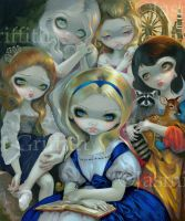 Alice and the Bouguereau Princesses by jasminetoad