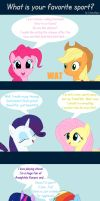 MLP FiM: What is your favorite sport? by LhasaApso