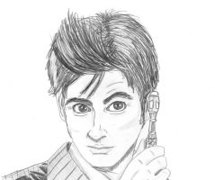 10th Doctor Sketch by Chrisily