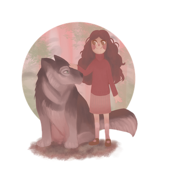 Wolf + Girl by Lauriza