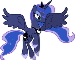 Princess Luna Smiling by 90Sigma