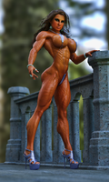 Female Bodybuilder Model by Siberianar
