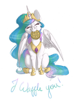 Celestia Waffle's You!  - Commission by Flita
