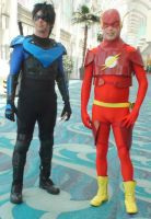 Nightwing and the Flash at Long Beach Comic Con by trivto