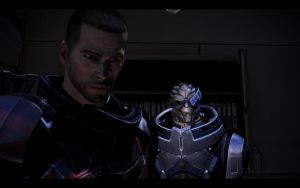 ME3 Sanctuary - Alan Shepard and Garrus by chicksaw2002