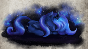 Sleeping Moon by Shaadorian