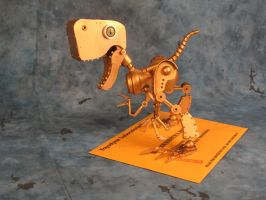 robot dinosaur sculpture by Grumbleputty