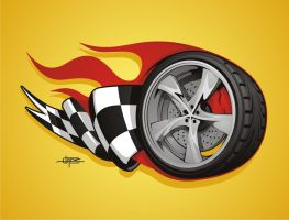Wheel Illustration by BurningEyeStudios