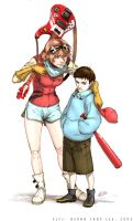 FLCL- Haruko and Naota by Gorrem