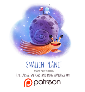 Daily Paint 1456. Snalien Planet by Cryptid-Creations