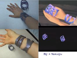 zelda Skyward Sword Goddess bracelets by Narayu