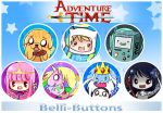 Adventure Time Buttons by jinyjin