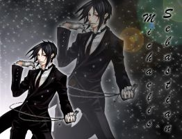 Sebastian Michaelis wall by IronettaStark
