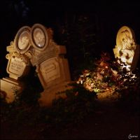Cemetery at night by Cassiopeeh