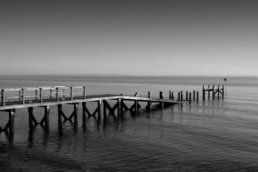 The lone pier by adrianmusto