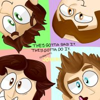 THE IMPRACTICAL JOKERS by RainbowCraft33