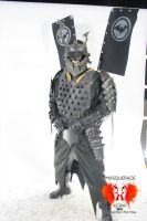 Batman Samurai Costume again by Devilpig