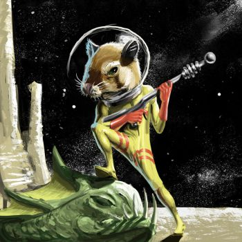 Space Hamster by pencilcasserole