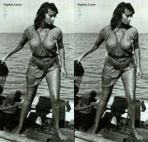 Sophia Loren Boy On a Dolphin by 3dpinup