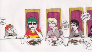 An Ordinary Dinner by 13foxywolf666