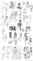 Huge sketch collection by Ninjin-nezumi