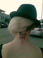 neck tattoo by MissMalin