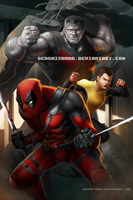 Deadpool, Colossus and Negasonic Teenage Warhead by GenghisKwan