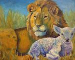 The Lion and The Lamb by blondbug