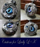 Wire Wrap - Custom Pocket Watch Eye Time Piece 1 by LadyPirotessa