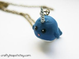 Lucy the Narwhal Necklace by ButtonxMushroom