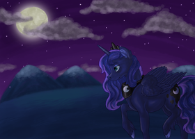 Moonlit Walk by Essely