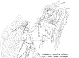 SessKag: Angel and Demon by LadyHoney89