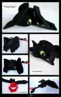 Toothless / Night Fury - Plush Comic Part 2 by roobbo