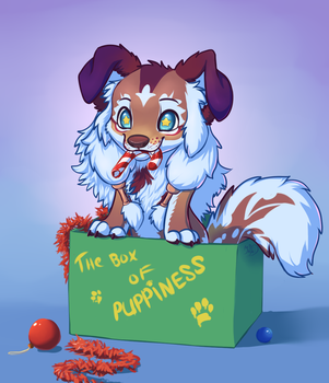 Pup in the box by PanteraYoshi