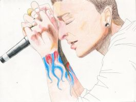 Chester Bennington WIP by Kelly-ART